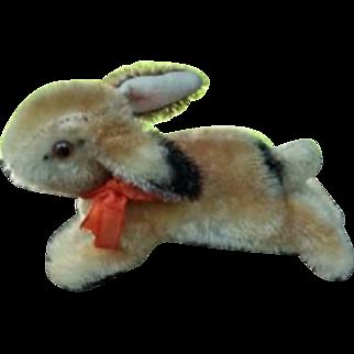 Sweet Little Mohair Steiff Running Rabbit Missing an Eye