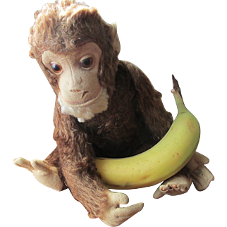 Schuco Chocolate Brown Mohair Monkey Yes/No
