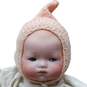 Bisque Head Bye Lo Baby Doll with Marked Grace Putnam Body