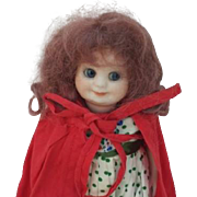Most Adorable AM Googly Artist Reproduction Doll Red Riding Hood