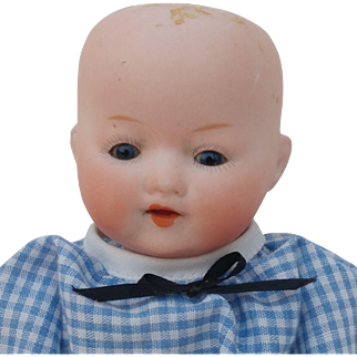 """Sweet 7-1/2"""" German Bisque Head Doll """"Our Pet"""""""