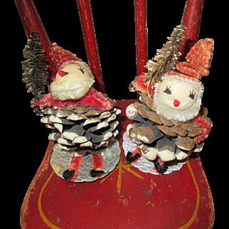 Two Christmas Santa's