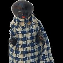 "Sweet Antique 2-1/2"" Black Frozen Charlotte Doll"