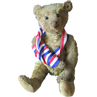 Steiff Teddy Mr. Braveheart with button 12 1/2 ""