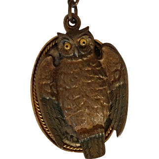 Owl Pendant/Mirror Glass Eyes