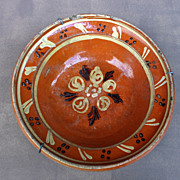 Antique French / German superbly painted Soufflenheim clay platter