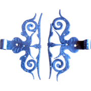 French renaissance wrought iron hinges
