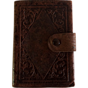 Vintage French leather wallet