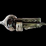 XVIIIth century rare sophisticated hand hammered lock
