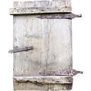 Old wood shutter from a XVIIIth Alsatian farm nice piece of primitive folk art