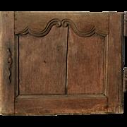Little charming French oak door Louis XV era 18th century