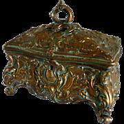 Napoleon III era regulus jewel box French little treasure chest