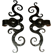 French antique iron hinges 18th century