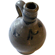 Little Antique German Wine Pitcher Glazed Pottery