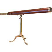 Antique Library Telescope, Late C18th, Dollond, Achromatic