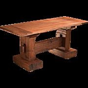 Mid Century Rustic Jarul Wood Kitchen Table