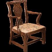 Antique Open Armchair, George III, in the manner of Robert Manwaring