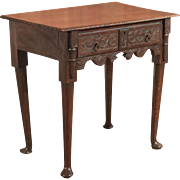 Antique Georgian Provincial Oak Table, c.1750