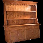 Victorian Large Pine Dresser, c.1875