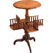 Victorian Wine Table/Bookshelf, c.1850