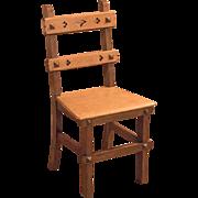 Arts & Crafts English Oak Chair, c.1900