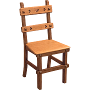 Arts & Crafts English Oak Chair, c.1900