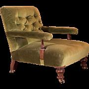 Victorian Button Back Armchair, c.1900