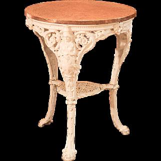 Victorian Cast Iron & Copper Tavern Garden Table