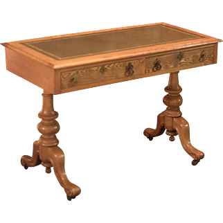 Victorian Ash Writing Table, c.1870