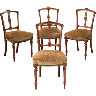 Aesthetic Period Set of Four Dining Chairs, c.1890