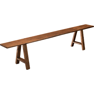 Late Victorian Country Kitchen Bench (2)
