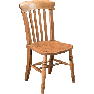 Victorian Elm Station Chair, c.1850