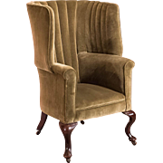 Victorian Antique Armchair, Scottish Fireside Wing Back