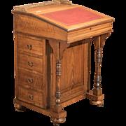 Antique Davenport, Victorian Walnut Desk