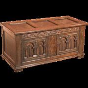 18th Century Antique Coffer, English Oak Furniture