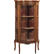 Antique French Bombé Vitrine, Display Cabinet c1880