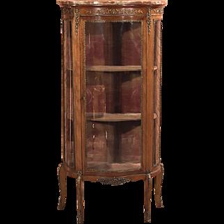Antique French Bombé Vitrine, Display Cabinet c1880