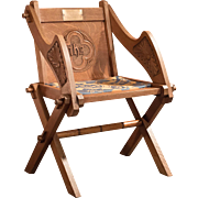 Antique Glastonbury Chair, Early C20th in Oak