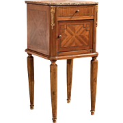 Antique Pot Cupboard, Mahogany Bedside Table c1900