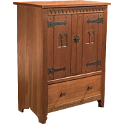 Mid-Century Arts & Crafts Oak Cabinet