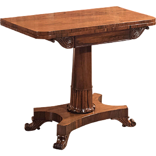 Antique Card Table, Victorian Rosewood Table