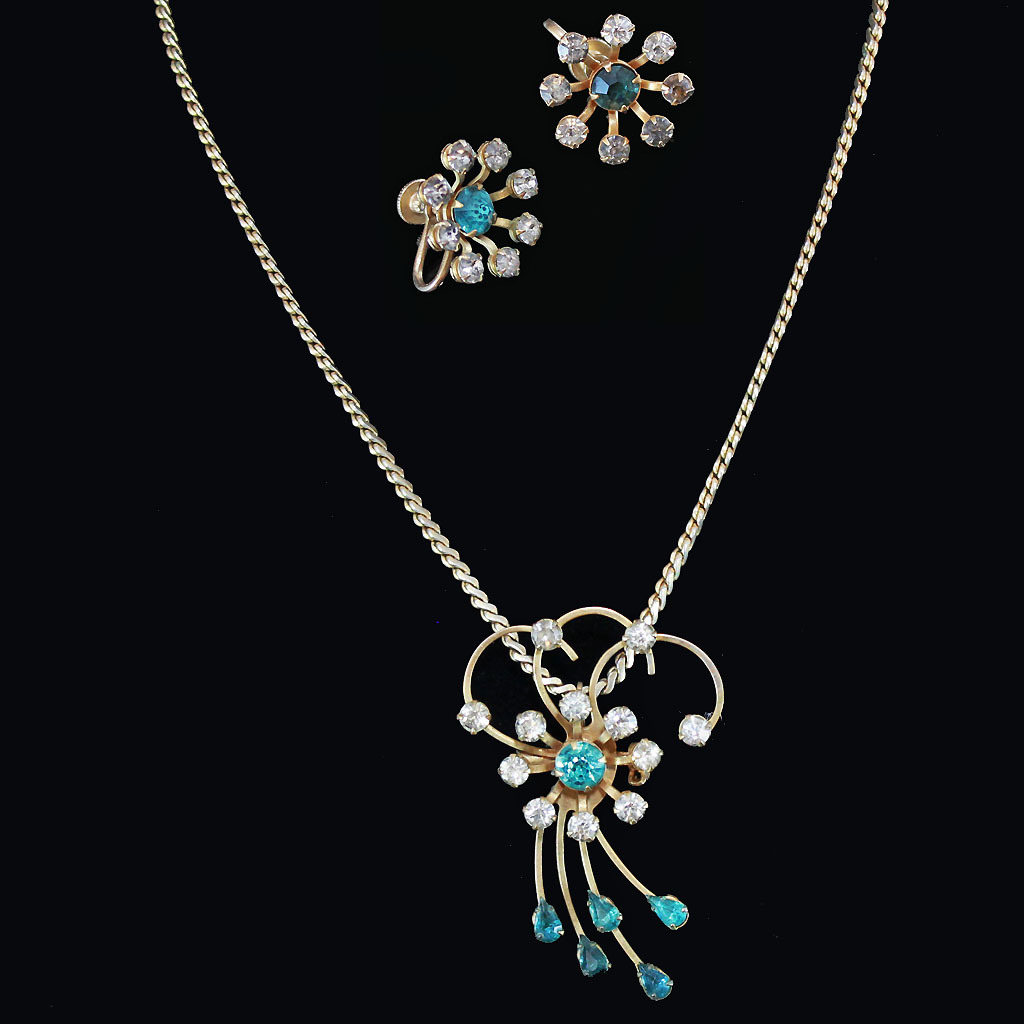 Bugbee niles shooting star brooch pendant earrings c1930 for Bugbee and niles jewelry