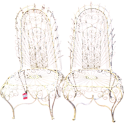 2 Ornate Metal Garden Chairs