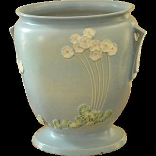 Roseville Pottery Primrose Blue Sand Jar
