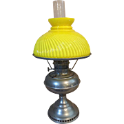 Perfection Kerosene Lamp w/ Yellow Shade