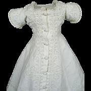 Huret or French Fashion Antique White Pique with Soutache Dress