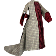 Antique French Fashion Doll Gown Dress Clothing