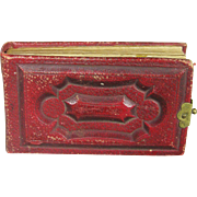 Antique Miniature Leather Photo Album for Fashion or other Doll