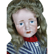 "16"" K*R Gretchen 114 Pouty Antique German Bisque Head Doll ~ Kammer & Reinhardt"