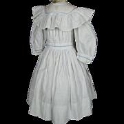 Antique Blue and White Polka Dot Doll Dress